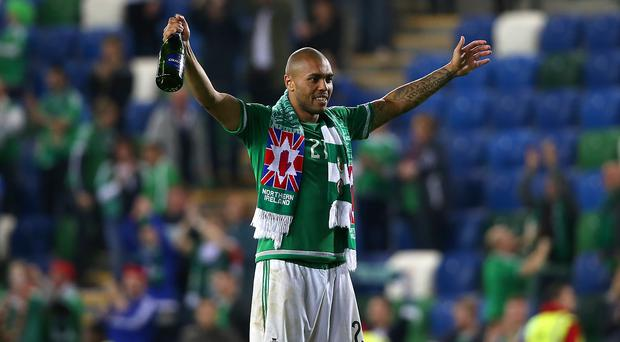 Josh Magennis was on target against Greece