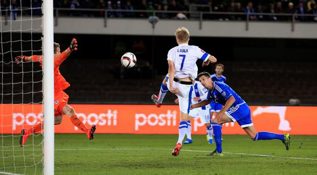 Craig Cathcart opened the scoring for Northern Ireland in Helsinki