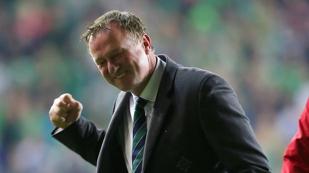 Michael O'Neill was in no mood to be downcast as Northern Ireland finished top of Group F