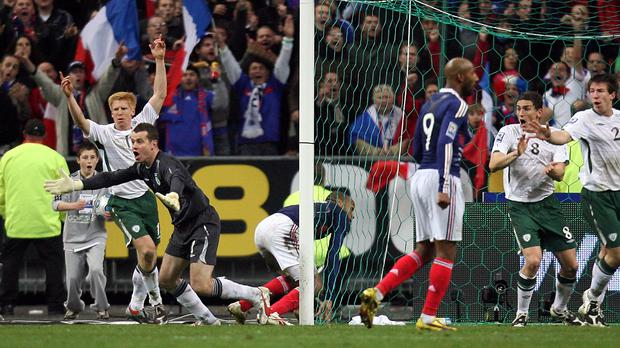 The Republic of Ireland were denied a place at the 2010 World Cup by a Thierry Henry handball