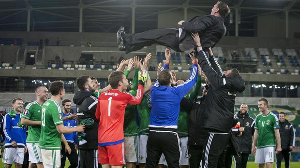 There were jubilant scenes at Windsor Park following Northern Ireland's win over Greece
