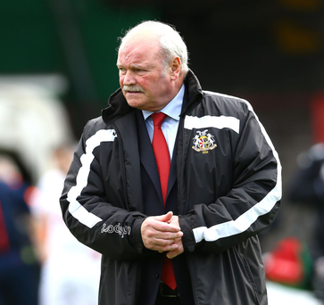 Under pressure: Portadown manager Ronnie McFall has been the subject of criticism from his own supporters