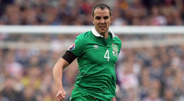 Republic of Ireland defender John O'Shea has returned to training