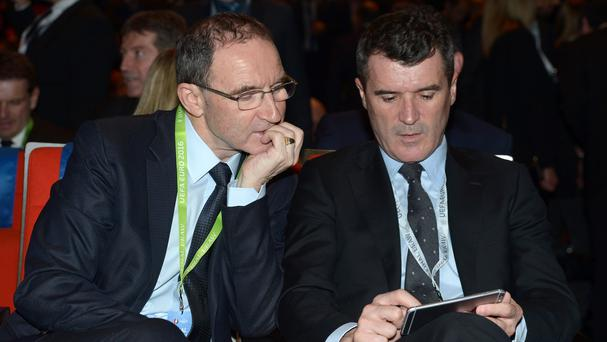 Martin O'Neill, left, knows his side face a tough task