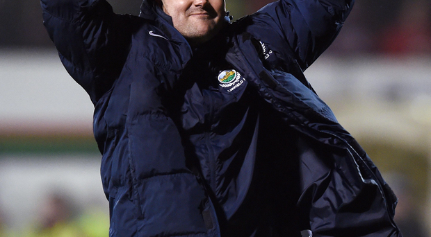 Rollercoaster ride: David Healy hails a Linfield victory but he has also endured tough spells