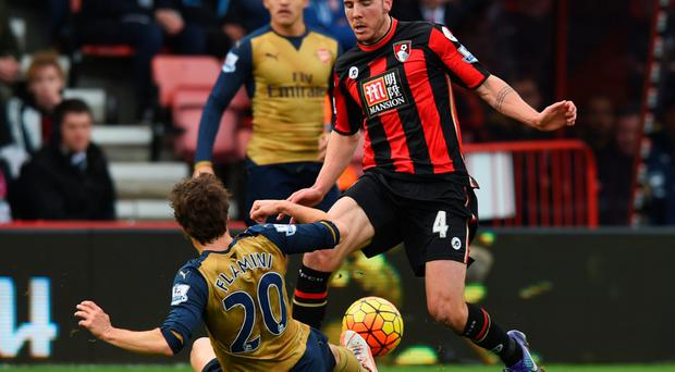 Slide: Eddie Howe hit out at Mathieu Flamini's tackle on Dan Gosling