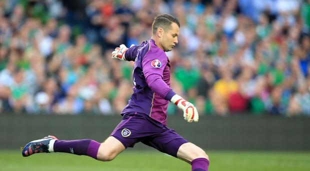 Republic of Ireland goalkeeper Shay Given is battling to be fit for the Euro 2016 finals