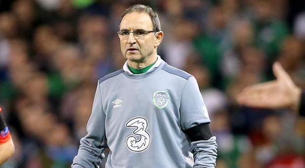 Republic of Ireland manager Martin O'Neill has named an enlarged 40-man squad for March friendlies against Switzerland and Slovakia.