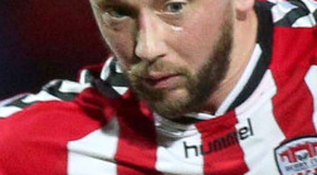Double hit: Rory Patterson scored twice in Derry's win