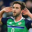 Will Grigg scored his first international goal late on