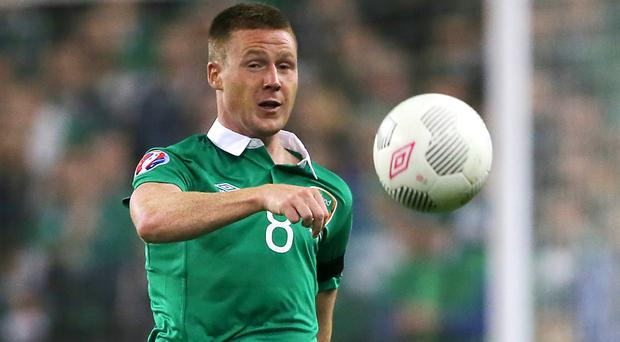 Republic of Ireland midfielder James McCarthy is due to resume training on Monday