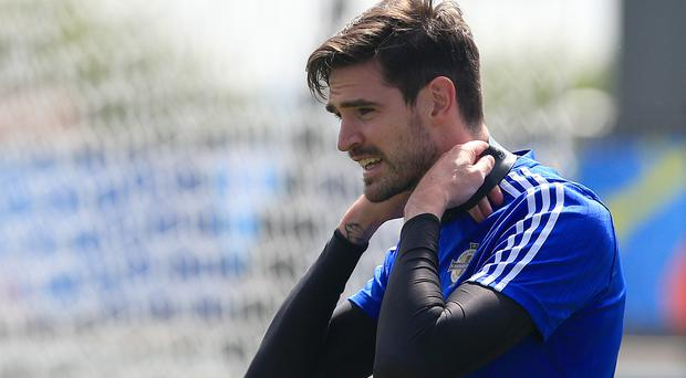 Kyle Lafferty is set to start for Northern Ireland in Nice on Sunday night