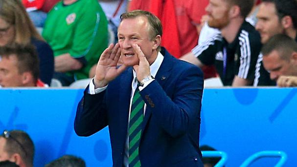 Michael O'Neill's Northern Ireland lost their first match at a finals in 30 years