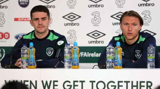 Republic of Ireland's Robbie Brady, left, and Jeff Hendrick have grown up in football together