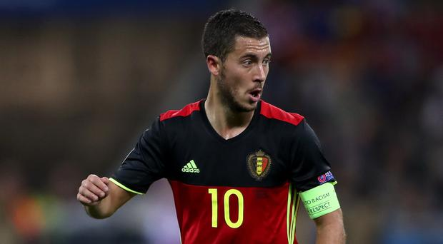 Republic of Ireland assistant manager Roy Keane has admitted he would have kicked Belgium star Eden Hazard, pictured, on the training pitch