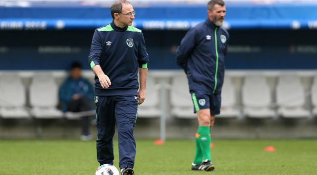 Republic of Ireland manager Martin O'Neill, left, believes Belgium could yet win Euro 2016