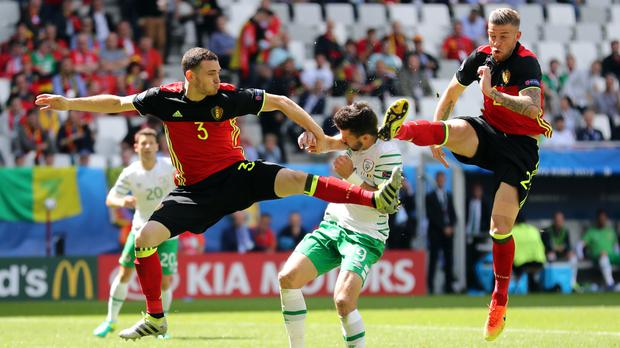Shane Long, centre, arrived at the tournament as one of the Barclays Premier League's in-form strikers