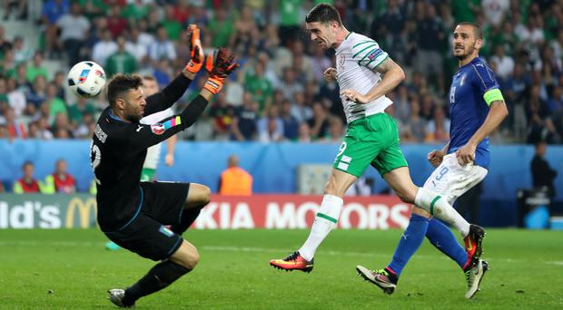 Robbie Brady's header secured progression for the Republic of Ireland