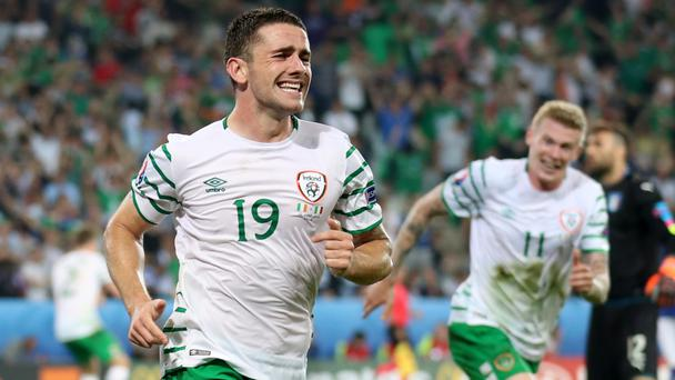 Robbie Brady's header sealed a 1-0 win over Italy for the Republic of Ireland on Wednesday
