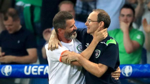 Republic of Ireland manager Martin O'Neill, right, and assistant Roy Keane