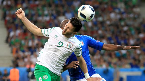 Republic of Ireland striker Shane Long, left, is targeting Euro 2016 victory over France