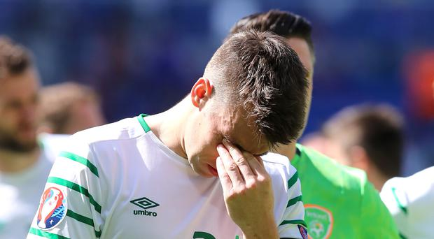 Republic of Ireland skipper Seamus Coleman saw his side defeated by France on Sunday