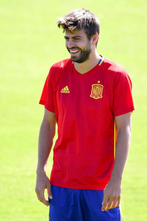 United old boy: Gerard Pique