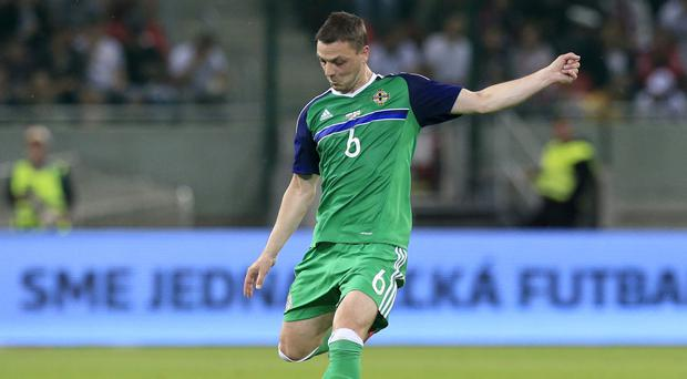 Northern Ireland's Chris Baird made his international debut in 2003