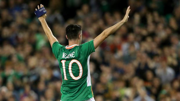 Robbie Keane saluted the crowd as his international career came to an end