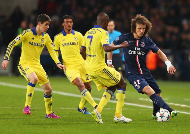 Homecoming: David Luiz is back at Chelsea after a surprise £38m transfer from Paris Saint-Germain