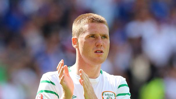 Martin O'Neill will be without James McCarthy in Serbia