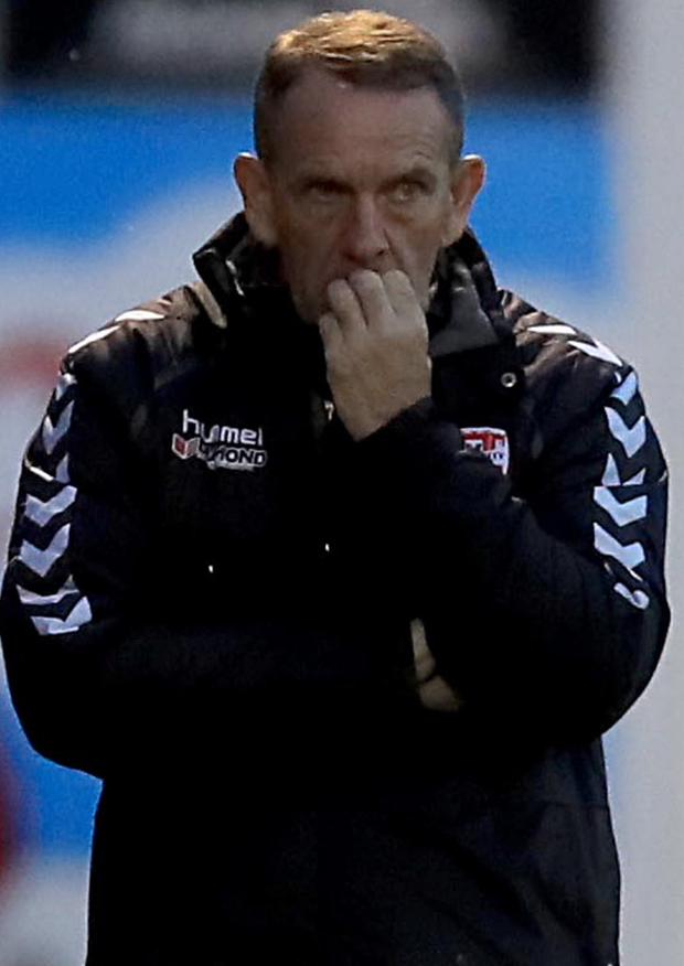 Nail-biting: Kenny Shiels says City must triumph tonight