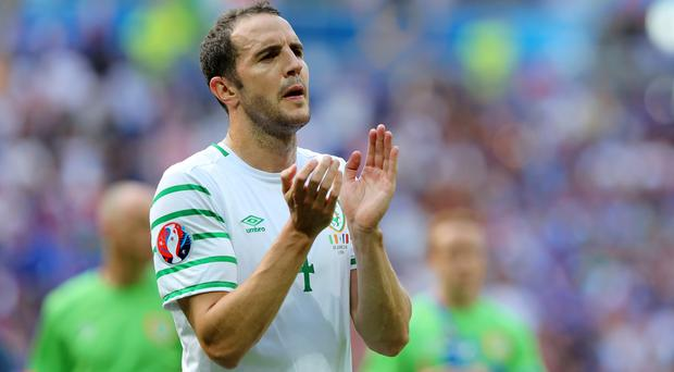 Republic of Ireland defender John O'Shea left Serbia with mixed feelings