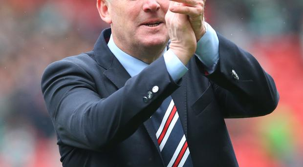 Relaxed: Mark Warburton insists that Rangers are content as underdogs