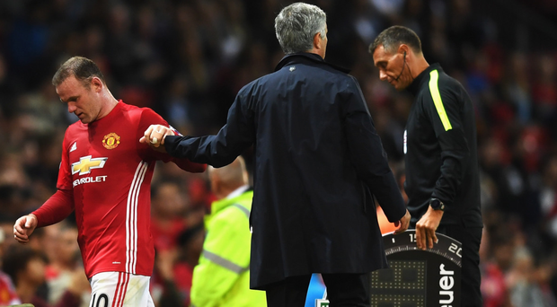 Take a seat: Manchester United boss Jose Mourinho has not been rewarded for showing faith in Wayne Rooney