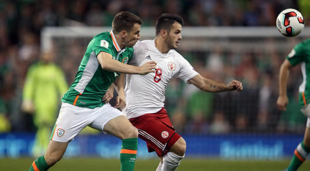 Seamus Coleman, left, was the Republic of Ireland's best player in Dublin