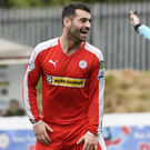 On target: David McDaid scored the winning goal