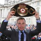 Carl Frampton has announced his rematch with Leo Santa Cruz will take place in Las Vegas