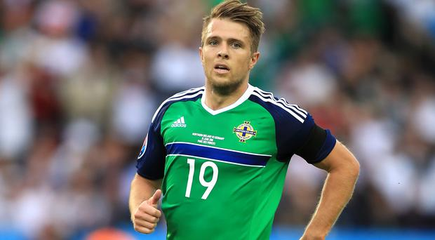 Jamie Ward will be missing when Northern Ireland host Azerbaijan