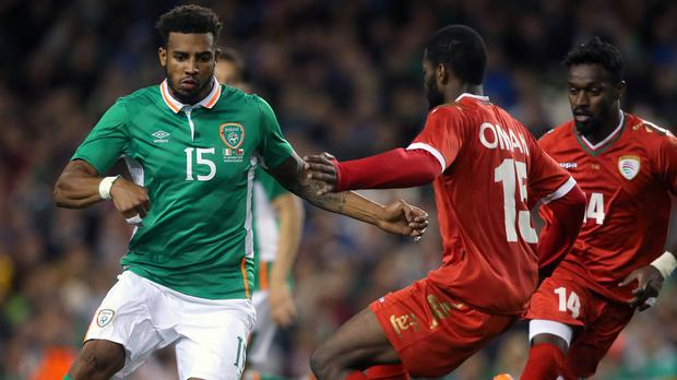 Republic of Ireland full-back Cyrus Christie, left, is facing at least three months on the sidelines through injury
