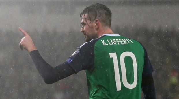 Kyle Lafferty set Northern Ireland on their way to a comfortable victory
