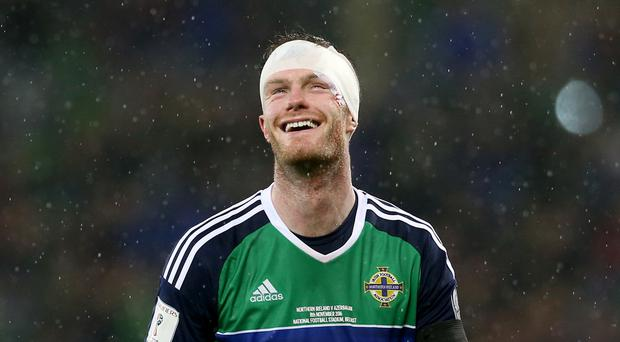 Chris Brunt was all smiles upon his international return