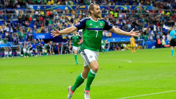 Niall McGinn was made captain for Northern Ireland's friendly with Croatia