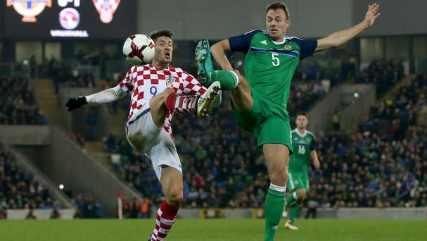 Andrej Kramaric, left, scored for Croatia in a game which Jonny Evans flew back especially for