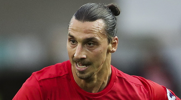 Up for it: Zlatan Ibrahimovic is relishing challenge at Old Trafford