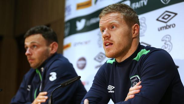 Andy Boyle, left, and Daryl Horgan, right, will join Preston in January
