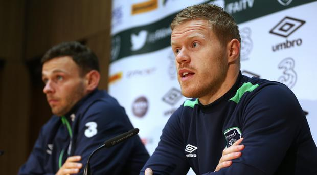 Andy Boyle, left, and Daryl Horgan