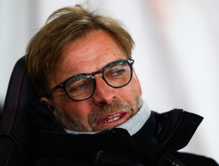 Looking ahead: Jurgen Klopp maintains that tomorrow's result against Manchester United is not crucial to Liverpool's season
