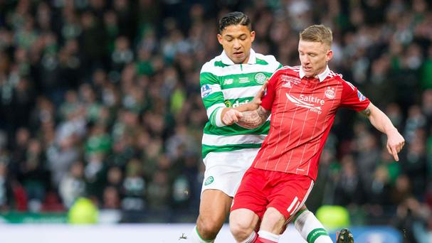 Jonny Hayes extends contract with Aberdeen