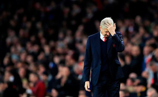 Oh no: Arsene Wenger is being hit with heavy criticism